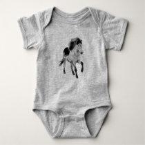 Move - Icelandic horse Baby Bodysuit