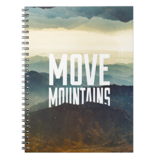 Move Mountains Spiral Note Book