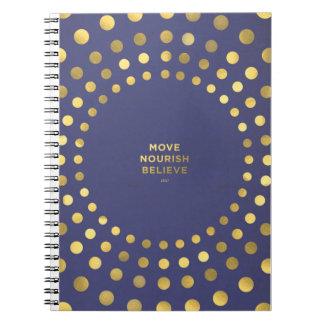Move, Nourish, Believe Spiral Note Book