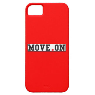move on text message emotion red dot square iPhone SE/5/5s case