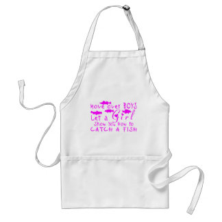 MOVE OVER BOYS GIRLS FISHING ADULT APRON