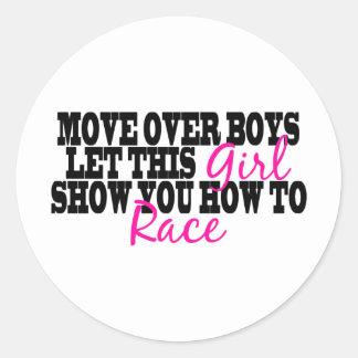 Move Over Boys... Round Sticker