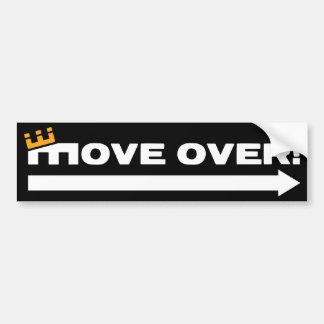 MOVE OVER! CAR BUMPER STICKER