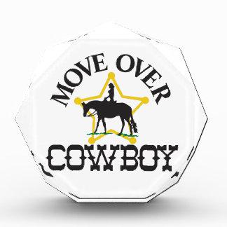 Move Over, Cowboy Acrylic Award