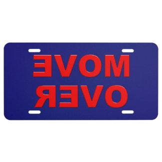 Move Over License Plate