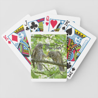 Move Over Owls Cute Bicycle Poker Deck