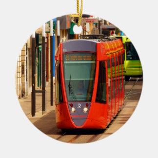 move to success reims france tram shuttle vehicle ceramic ornament