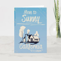 Move to sunny California vintage poster