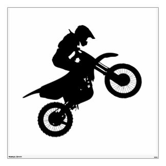 Moveable Dirtbike Wall Decal
