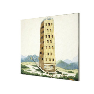 Moveable tower, designed after Caesar's tower at N Canvas Print