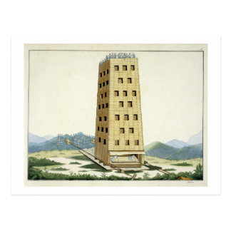 Moveable tower, designed after Caesar's tower at N Postcard
