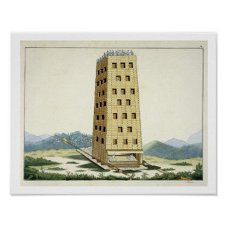 Moveable tower, designed after Caesar's tower at N Poster