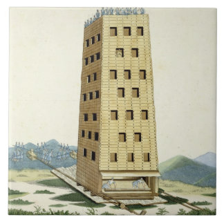 Moveable tower, designed after Caesar's tower at N Tile