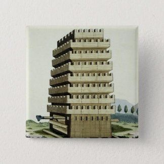 Moveable tower with outer galleries and an additio button