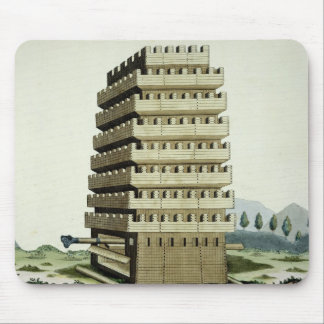 Moveable tower with outer galleries and an additio mouse pad