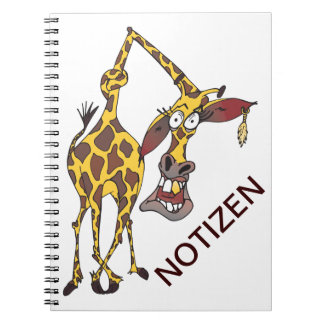 moved merry giraffe with earring note book