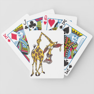 moved merry giraffe with earring bicycle playing cards