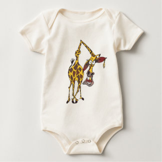 moved merry giraffe with earring rompers