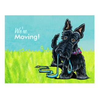 Moved Moving Scottie New Address Announcements Postcard