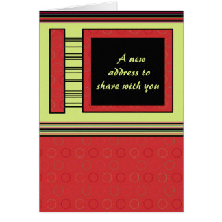 Moved - Relocated - Business - Home - Announcement Greeting Card