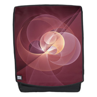 Movement Abstract Modern Wine Red Pink Fractal Art Backpack