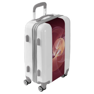 Movement Abstract Modern Wine Red Pink Fractal Art Luggage