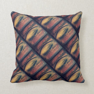 Movement in acrylic throw pillow