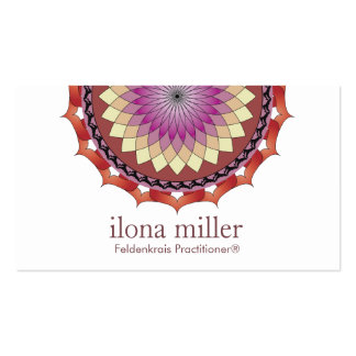 Movement Mandala Business Card   Rolling In Autumn