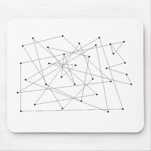 Movement map mouse pad