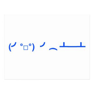 Mover de un tirón el Emoticon Meme de las tablas Tarjeta Postal