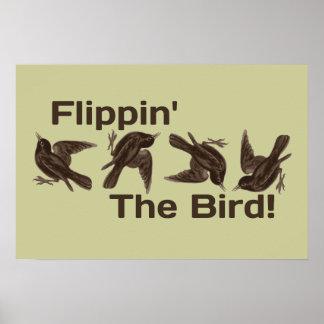 Mover de un tirón el pájaro posters