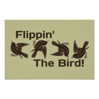 Mover de un tirón el pájaro póster