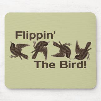 Mover de un tirón el pájaro tapetes de ratón