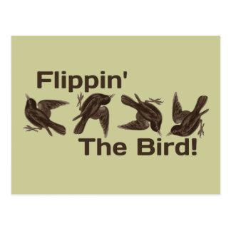 Mover de un tirón el pájaro tarjeta postal