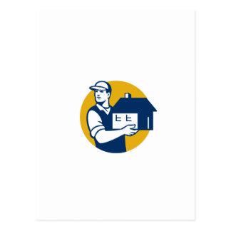 Mover Handling House Circle Retro Postcard