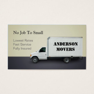 Moving company business cards templates zazzle for Moving business cards