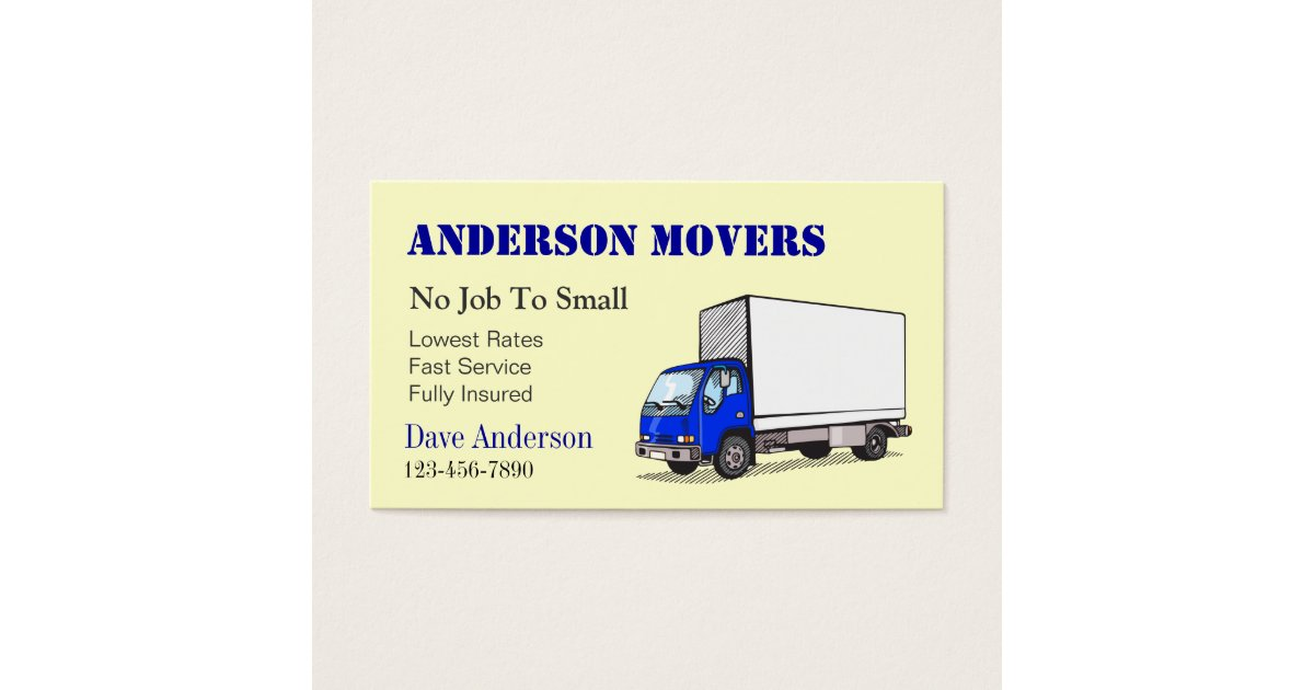Mover or Moving Company Business Card | Zazzle.com