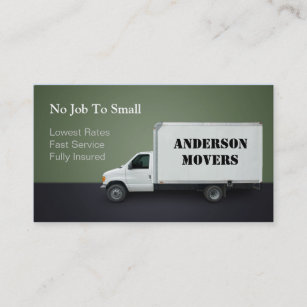 Moving company business cards templates zazzle mover or moving company business card colourmoves