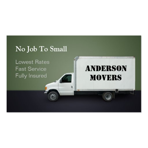 Mover or moving company business card zazzle for Moving business cards