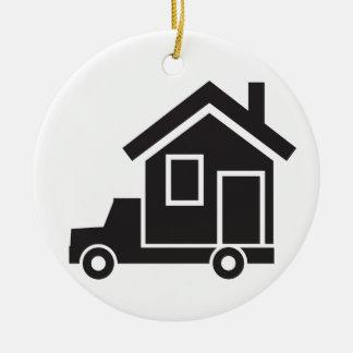mover - relocation service - mobile home ceramic ornament