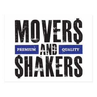 Movers and Shakers - Blue Postcard