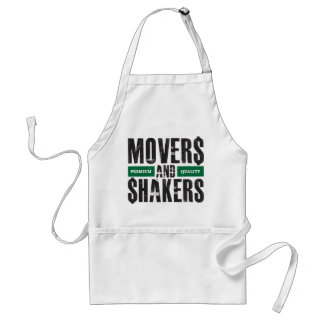 Movers and Shakers - Green Adult Apron