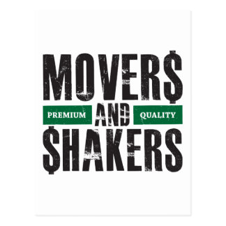 Movers and Shakers - Green Postcard
