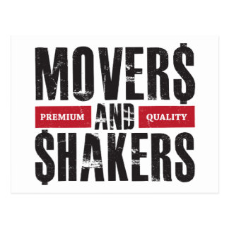 Movers and Shakers - Red Postcard