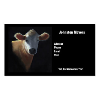 Movers Business Card: Cow: Let Us Moooove You