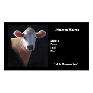 Movers Business Card: Cow: Let Us Moooove You Business Card