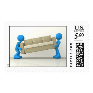 Movers Postage Stamp