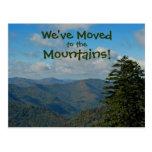 Movido a las montañas - cambio de dirección del postal