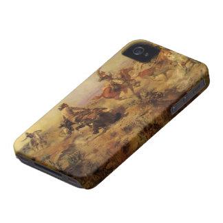 Movido de un tirón abajo por el cm Russell iPhone 4 Case-Mate Protectores
