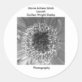 Movie Actress Ishah Black and White Photography Classic Round Sticker